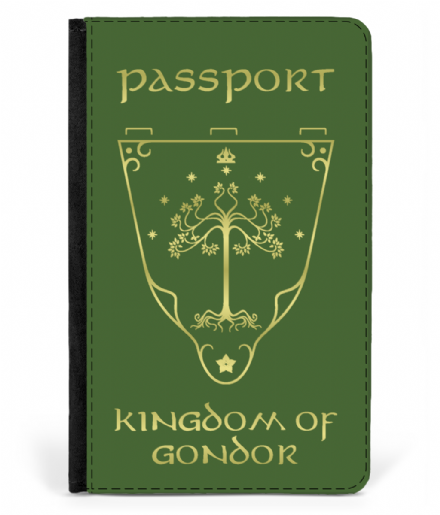 Faux Leather Passport Cover Gondor Lord of The Rings
